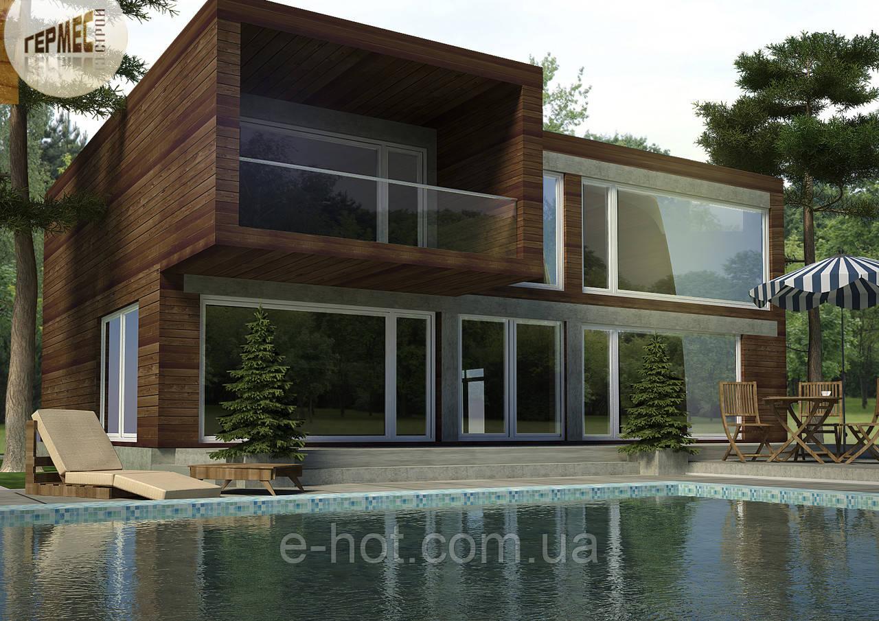 Проект дома, Дом хай-тек 176м2