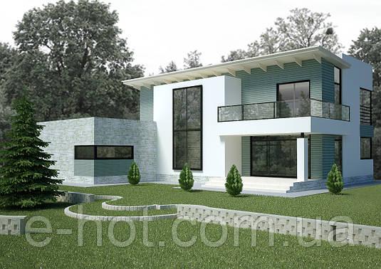 Проект дома, Дом хай-тек 233м2