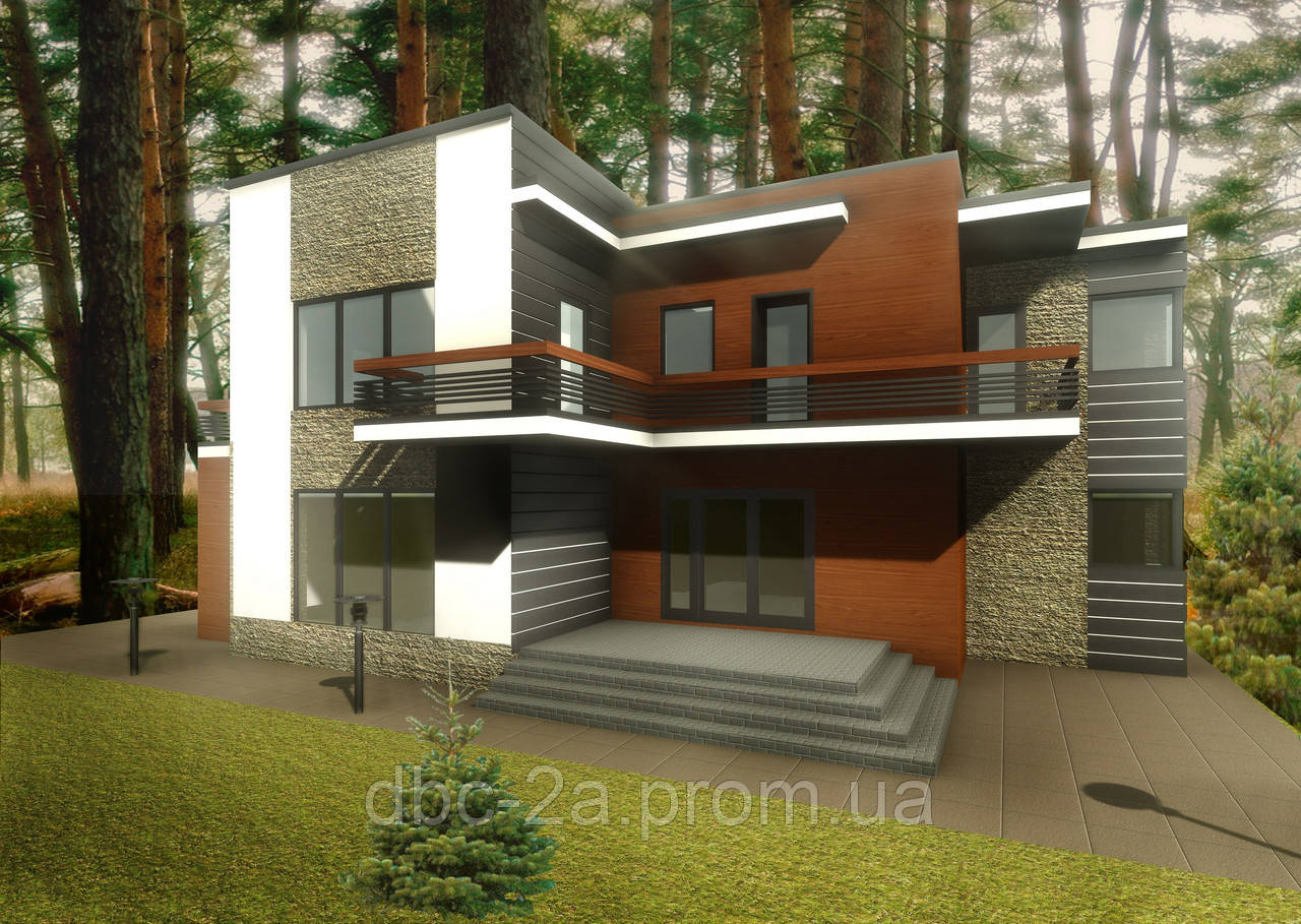Проект дома, Дом хай-тек 260м2