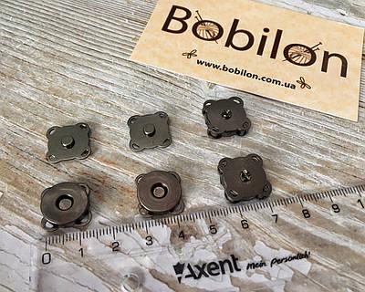 Магнітні Пришивні Кнопки 14 мм в кольорі Чорне срібло