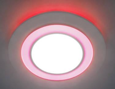 Светодиодная панель Feron AL 2550 16W 4000K красн. подсветк. круг  Код.57683, фото 2