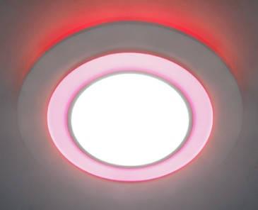 Светодиодная панель Feron AL 2550 8W 4000K красн. подсветк. круг  Код.57682, фото 2