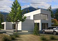 Проект дома, Дом хай-тек композит 297м2