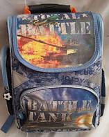 Каркасный рюкзак для мальчиков 1-4 классов, Танки