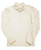 Блуза - гольф для девочки 114360/114361 молочный