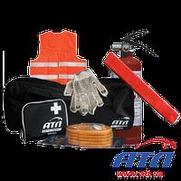 Комплект автомобильный (жилет, сумка, огнетушитель, аптечка, трос, аварийный знак)
