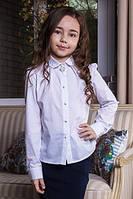 Школьная классическая белая блуза для девочки.122-158р.