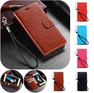 """Huawei Y6 PRO оригинальный кожаный чехол кошелёк из натуральной телячьей кожи на телефон """"LUXON"""""""