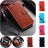 """Huawei G9 Plus / Maimang 5 оригинальный кожаный чехол кошелёк из натуральной телячьей кожи  """"LUXON"""""""