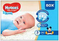 Huggies Ultra Comfort 3 (144шт.)5-9кг. для мальчиков (Хаггис Ультра Комфорт)