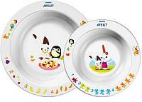 Набор столовых приборов детские тарелки, Avent