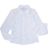 Блузка для девочек с гипюром