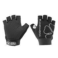 Перчатки рыболовные Yoshi Onyx цвет чёрный (5 открытых пальцев)