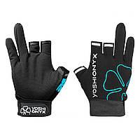 Перчатки рыболовные Yoshi Onyx цвет чёрно-бирюзовый (3 открытых пальца)