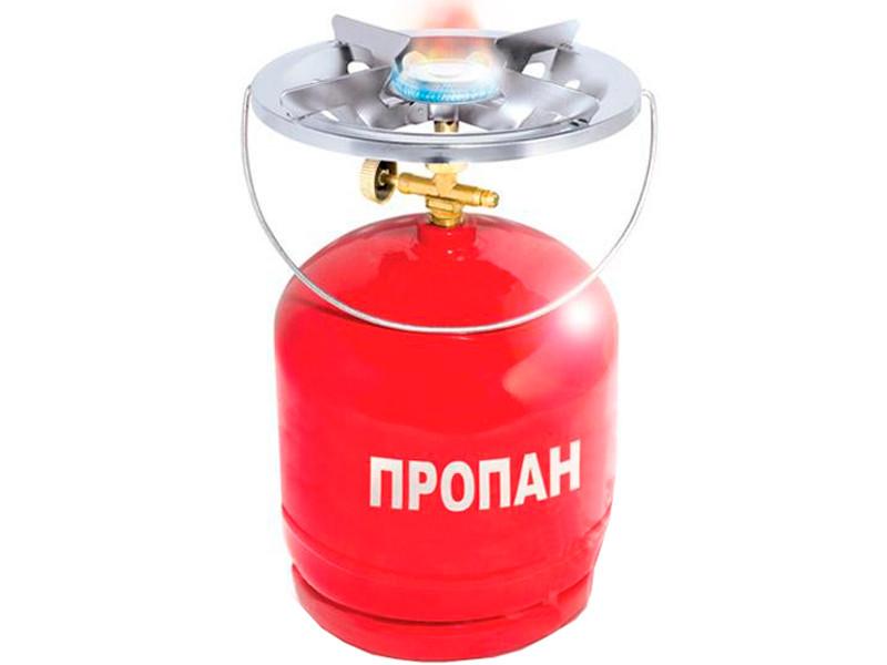 Газовый баллон на 8 литров с горелкой (примус) GS-0008