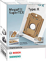 Сменный мешок-пылесборник bosch bbz41fk megaair supertex 4 шт+ микрофильтр