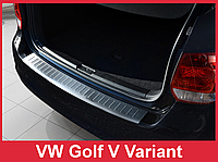 Накладка на бампер с загибом Volkswagen Golf 5 6 Variant Combi