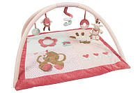 Детский развивающий коврик nattou 655224 дуги с игрушками Шарлота и Рози