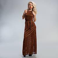 Платье длинное на бретельках с пояском 38, 40,42  размеры