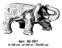 Фигуры животных «Слон» 70х36 см, Н=38 см