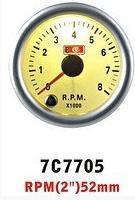 7С 7705 LED Тахометр 7 цветный, стрелочный диам.52мм