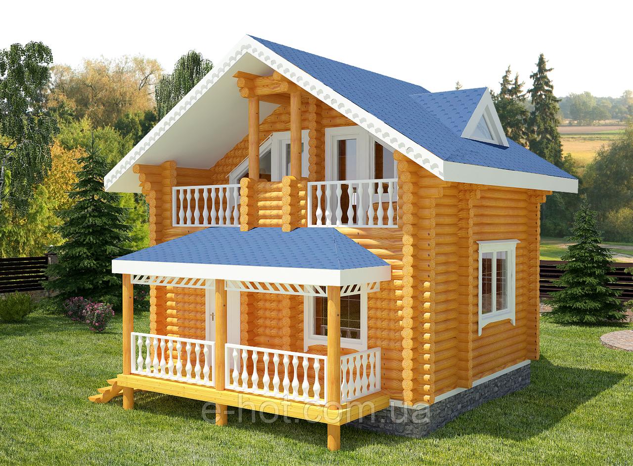 Проекты домов, Дом Уют 70м2