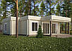 Проекты домов, Дом хай-тек белый шоколад 110м2, фото 3