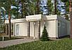 Проекты домов, Дом хай-тек белый шоколад 110м2, фото 4
