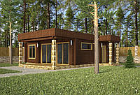 Проект дома, Дом хай-тек шоколад 110м2