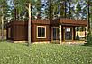 Проект дома, Дом хай-тек шоколад 110м2, фото 3