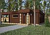 Проект дома, Дом хай-тек шоколад 110м2, фото 4