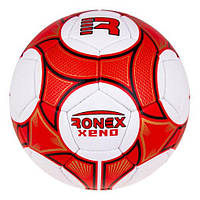 М'яч футбольний №5 Гріппі Ronex XENO RXG-12XR червоний-чорний