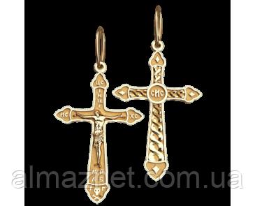 Золотой элегантный крестик