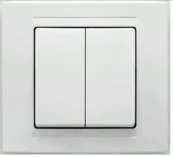 Выключатель двойной GUNSAN cерия MODERNA , фото 2