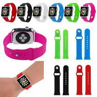 Силиконовый ремешок для часов Apple watch 38 мм 42мм