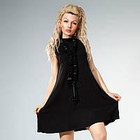 Платье свободного кроя черного цвета 40,42,44,46,48 размеры