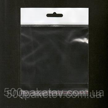 Пакет с европодвесом 10х12см