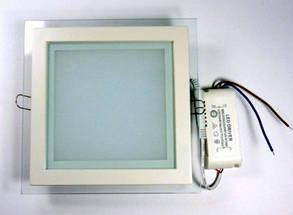 Светодиодный cветильник Feron AL2111 6W 5000K квадрат белый( потолочный, сатурн) Код.57679, фото 2