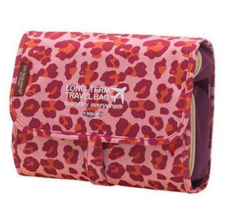 Дорожная косметичка розовый леопард