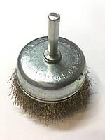 Металлическая щётка на дрель (колокольчик),мягкая, 50мм