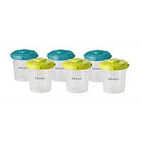 Beaba - Контейнеры для хранения Clip Containers, 6 шт. (200 мл.)