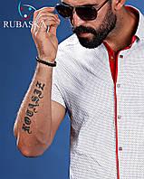 Белая рубашка с красным воротником, фото 1