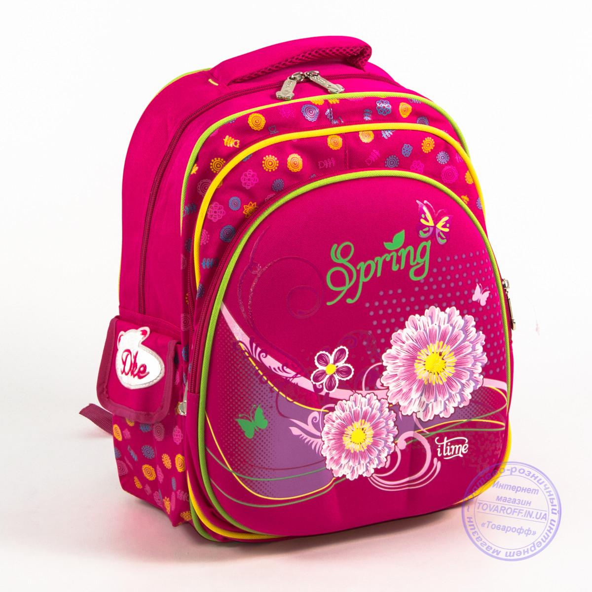 Школьный рюкзак для девочки с жесткой спинкой - розовый - 170