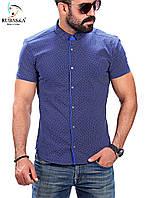 Красивая синяя рубашка, фото 1