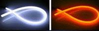 Подсветка в фару 60cm-B (W/Y) Гибкая, с повторителем поворота бегущий огонь