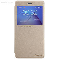 Чехол Nillkin Sparkle Leather Case для Huawei GR5 2017 (Honor 6X, Mate 9 Lite) Shampaign Gold