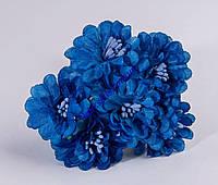 Гвоздика с тычинками синяя 6шт