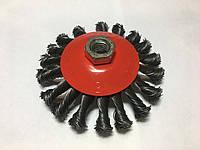 Металлическая щётка на болгарку (тарелка),жёсткая, 125мм