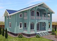 Проект дома, Дом отдыха Бирюза 260м2