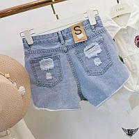 Женские джинсовые шорты с вышевкой